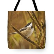 Chickadee On Alert Tote Bag