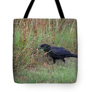 Chicken Eating Crow Tote Bag