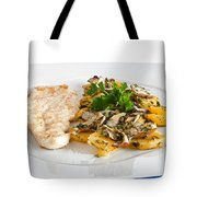 Chicken Escalope With Potatoes And Mushroom Tote Bag