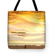 Chicken Farm Sunset 1 Tote Bag by James BO  Insogna