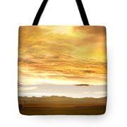 Chicken Farm Sunset 2 Tote Bag by James BO  Insogna