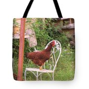 Chicken In The Chair Tote Bag