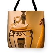 Chicken Swan Collage Tote Bag