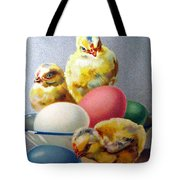 Chicks And Eggs Tote Bag
