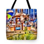 Chico Sail Boat By Diana Sainz Tote Bag