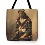 Chief Bone Necklace Of The Lakota 1899 Tote Bag