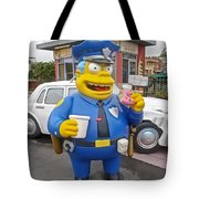 Chief Clancy Wiggum From The Simpsons Tote Bag