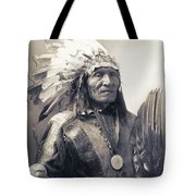 Chief He Dog Of The Sioux Nation  C. 1900 Tote Bag