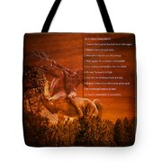 Chief Shabbona And The Ten Indian Commandments Tote Bag