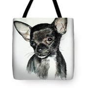 Chihuahua Black 2 Tote Bag