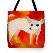 Chihuahua En Fuego Tote Bag