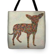Chihuahua-shape Tote Bag by James W Johnson