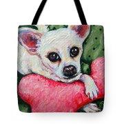 Chihuahua Who Came To Visit Tote Bag