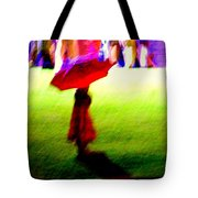 Child In The Rain Tote Bag