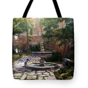 Child And Fountain Tote Bag