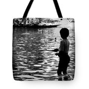 Child Fishing Tote Bag