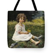 Child In The Meadow Tote Bag
