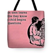 Child Questions Tote Bag