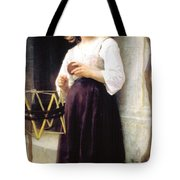 Child With A Ball Of Wool Tote Bag