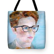 Child With Glasses Tote Bag