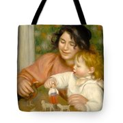 Child With Toys Gabrielle And The Artist S Son Jean Tote Bag by Pierre Auguste Renoir