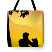 Childhood Dreams 4 Best Friends Tote Bag by John Edwards
