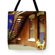 Childhood Dreams Montreal Memories Best Friends Forever Balloons At The Cornerstore Carole Spandau  Tote Bag