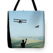 Childhood Dreams The Flypast Tote Bag by John Edwards