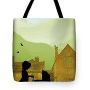 Childhood Dreams The Pram Tote Bag by John Edwards