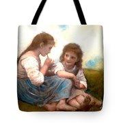 Childhood Idyllic By Bouguereau Tote Bag