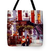 Childhood Montreal Memories Balconies And Bikes The Boys Of Summer Our Streets Tell Our Story Tote Bag