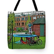 Children At Play In Enkhuizen-netherlands Tote Bag