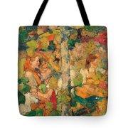 Children Dancing Around A Tree Tote Bag