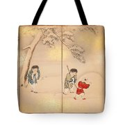 Children Playing In Summer And Winter Tote Bag