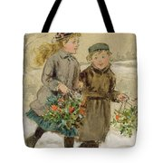 Children Playing In The Snow  Tote Bag