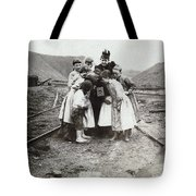 Children With Camera, C1900 Tote Bag