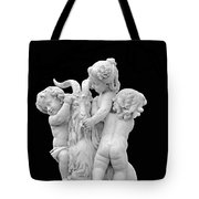 Children With Goat Tote Bag