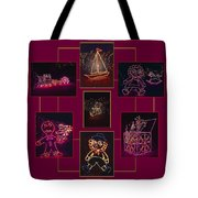 Children's Toys In Lights Poster Tote Bag