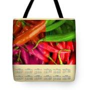 Chili Pepper 2014 Calendar Tote Bag
