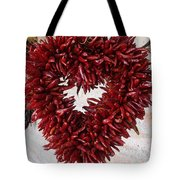 Chili Pepper Heart Tote Bag