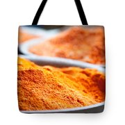 Chili Powder At Local Street Market In Dunhuang China Tote Bag