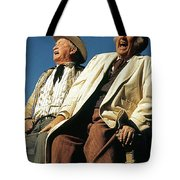 Chill Wills And Andy Devine Singing Atop A Stagecoach Old Tucson Arizona 1971 Tote Bag