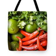 Chillies And Limes Tote Bag
