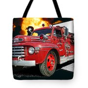 Chilliwack Fire-coming Out Into The Fire Tote Bag