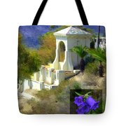 Chimes Tower Bell Flower Tote Bag