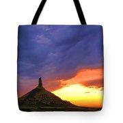 Chimney Rock Nebraska Tote Bag