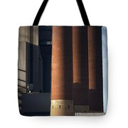 Chimneys Of Coal Power Station. Tote Bag