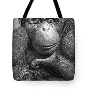 Chimpanzee Carving Tote Bag