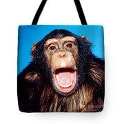 Chimpanzee Portrait Tote Bag