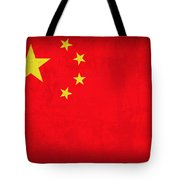 China Flag Vintage Distressed Finish Tote Bag
